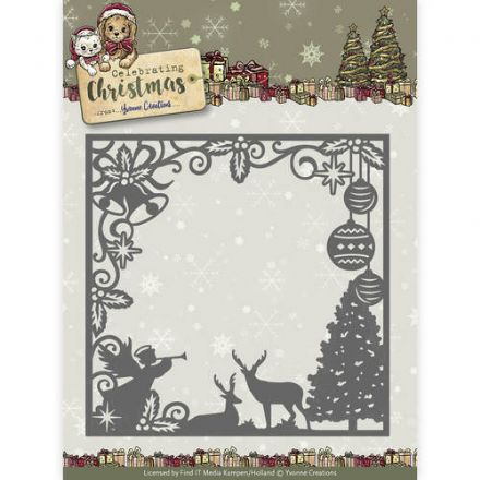 YCD10115 L ~ Celebration Christmas ~ Scene Square Frame ~ Yvonne Creations
